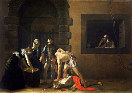Caravaggio, Michelangelo Merisi da: The Beheading of St. John the Baptist. Fine Art Print/Poster. Sizes: A4/A3/A2/A1 (002073)